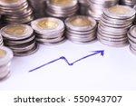 financial concept  home savings ... | Shutterstock . vector #550943707