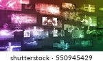 technology company background... | Shutterstock . vector #550945429