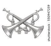 cavalry horns vector | Shutterstock .eps vector #550947259