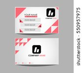 layout template id card for... | Shutterstock .eps vector #550957975