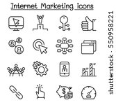 seo   internet marketing icon... | Shutterstock .eps vector #550958221
