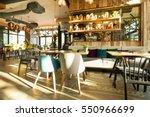 interior of a modern urban... | Shutterstock . vector #550966699