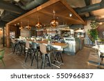 bar counter in restaurant... | Shutterstock . vector #550966837