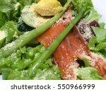 salmon salad | Shutterstock . vector #550966999