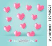 pink love heart balloons... | Shutterstock .eps vector #550968229