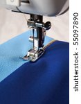 staple the fabric to the sewing ... | Shutterstock . vector #55097890