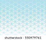 abstract sacred geometry blue... | Shutterstock .eps vector #550979761