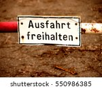exit no parking sign  germany | Shutterstock . vector #550986385