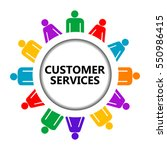 customer service icon on white... | Shutterstock .eps vector #550986415