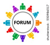 forum icon with group of...   Shutterstock .eps vector #550986517