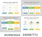four vector pricing tables.... | Shutterstock .eps vector #550987771