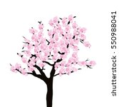 cherry tree isolated on white... | Shutterstock .eps vector #550988041
