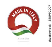 made in italy flag red color... | Shutterstock .eps vector #550992007