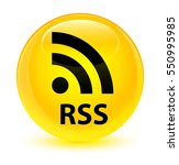 rss glassy yellow round button   Shutterstock . vector #550995985