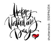 happy valentine's day greeting... | Shutterstock .eps vector #550996354