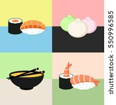 japanese food sushi collection. ... | Shutterstock .eps vector #550996585
