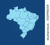 map of brazil | Shutterstock .eps vector #550998559