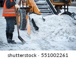 tractor cleaning the road from... | Shutterstock . vector #551002261