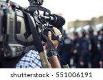 the cameraman make film... | Shutterstock . vector #551006191
