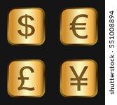 vector icon set  golden... | Shutterstock .eps vector #551008894