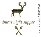 Card With Deer And Burns Night...