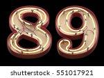 neon sign font. 3d rendering | Shutterstock . vector #551017921