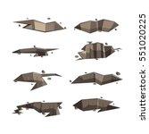 ground hold broken isolate set... | Shutterstock .eps vector #551020225
