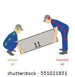 correct posture to lift a heavy ... | Shutterstock .eps vector #551021851
