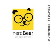 nerd logo design template with... | Shutterstock .eps vector #551024815