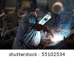 welder man in work | Shutterstock . vector #55102534