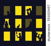 window city at night. vector... | Shutterstock .eps vector #551025457