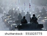 military parade of armored