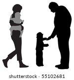 parents with children... | Shutterstock .eps vector #55102681