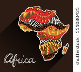 africa ornate continent and... | Shutterstock .eps vector #551030425