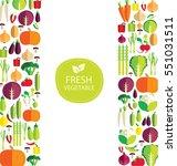 vegetables vector illustration   Shutterstock .eps vector #551031511