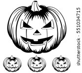 vector black and white... | Shutterstock .eps vector #551034715