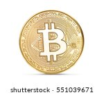 golden bitcoin isolated on a... | Shutterstock . vector #551039671