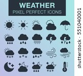 set of pixel perfect weather...