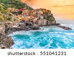 manarola fishing village ... | Shutterstock . vector #551041231