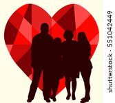the concept of family   Shutterstock .eps vector #551042449
