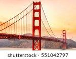 golden gate bridge in san... | Shutterstock . vector #551042797