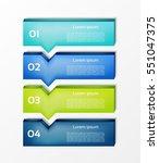 modern  infographics options... | Shutterstock .eps vector #551047375
