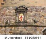 golden signboard of crowned red ... | Shutterstock . vector #551050954