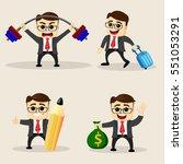 vector illustration. set of... | Shutterstock .eps vector #551053291