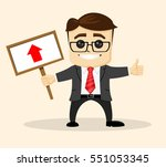 vector businessman or manager... | Shutterstock .eps vector #551053345