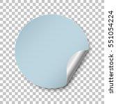 round blue paper sticker... | Shutterstock .eps vector #551054224