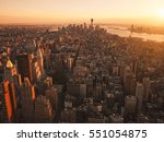 new york city from helicopter... | Shutterstock . vector #551054875