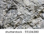 Stratified Rocks In A Cliff Face