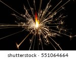 fire spark xmas with black... | Shutterstock . vector #551064664