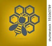 bee icon vector | Shutterstock .eps vector #551065789